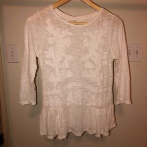 Ann Taylor LOFT Embroidered Blouse